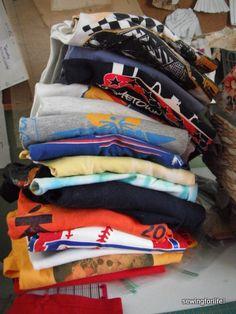 Braided rag rug from tshirts. Tutorial.
