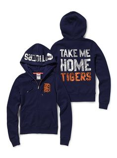 """Detroit Tigers Bling Zip Hoodie  $68.00      Please complete the missing information highlighted below and click """"Add to Bag"""".        Victoria's Secret Pink®    1 of 13    Detroit Tigers"""