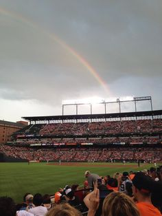 Somewhere over the rainbow. You can find Oriole Park at Camden Yards!