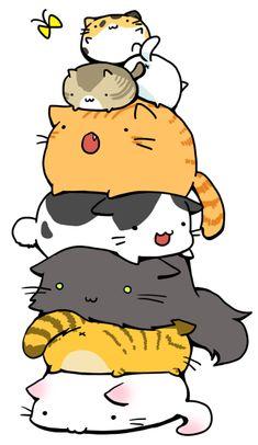 gato, kitty cats, cats meow, anim, kitten, silly cats, kawaii cat, doodl, fat cats
