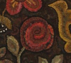 Day 44 of rug hooking: Rose improvement