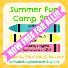 Summer Fun Camp 2013 - an online craft camp for kids - is FREE FOR ALL!