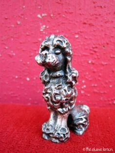 Vintage Ampersand Pewter Poodle Figurine - Too Cute