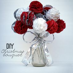 Make a Christmas Tissue Bouquet!