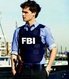 Spencer Reid in Criminal Minds.  He is so cute with short hair!!