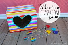 valentine box, classroom parti, craft, valentin classroom, felt hearts, valentine day, arrow, game idea, classroom game