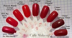 beautiful choices for the most timeless and classic nail polish color ever - red