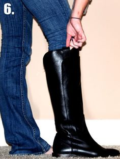 how to tuck in non skinny jeans to boots    @Heidi Maloy ... since you refuse to buy skinny jeans