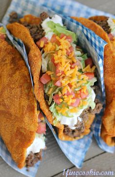 Homemade Doritos Locos Tacos (copycat taco bell recipe)