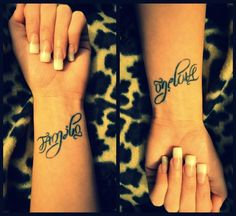 mother daughter tattoo/one love