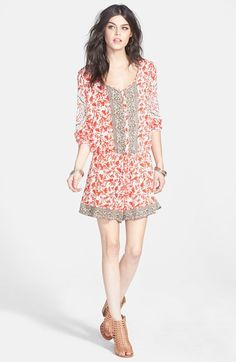 Free People 'Resort' Mixed Print Romper available at #Nordstrom
