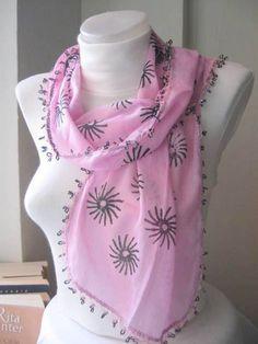 Traditional Turkish Oya Pink Scarf-Gift