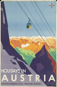 boston public library-travel posters-holidays in austria-joseph binder