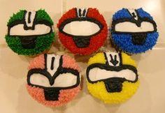 Power Ranger cupcakes.