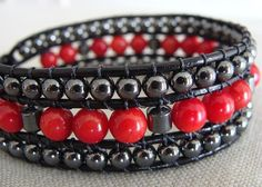 Autumn RED Arm Candy by Reginald and Corrie Nelson on Etsy