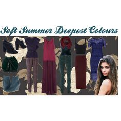 Deepest colours from the soft summer palette. Soft Summer - Deep/shaded