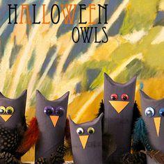Kids Halloween Craft! DIY Owls #craft #diy #owls #halloween