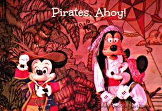 Pirate activities at Disneyland and Disney World.