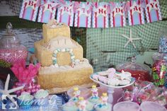 Mermaid Birthday Party | | Kara's Party IdeasKara's Party Ideas // Sand cake!