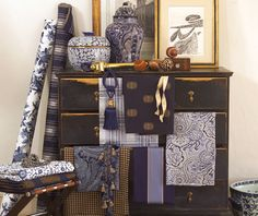 Menswear Style Fabrics for the Home - Calico Corners