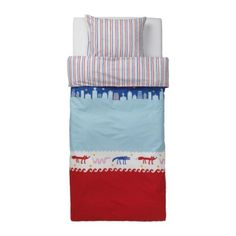 BARNSLIG NATTLIV Duvet cover and pillowcase(s) IKEA Reversible with  contrasting sides.