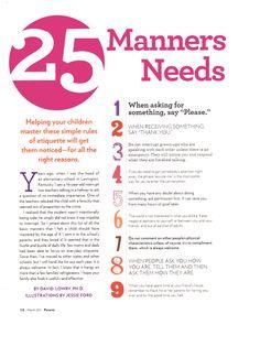 25 manners for kids001 idea, stuff, famili, parent, babi, kids, boy, 25 manner, kiddo