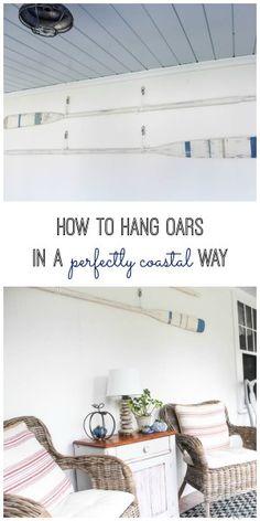 How to Hang Oars in