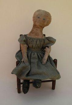 Mid 19th Century Cloth Doll