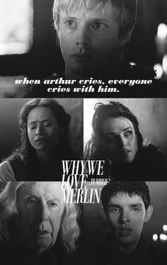 Merlin - Arthur cries, everyone cries