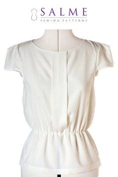 Minna blouse PDF Sewing pattern by Salmepatterns on Etsy. , via Etsy.