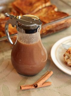 Cinnamon Vanilla Cream Syrup - This is a multi-purpose syrup. It works on your pancakes and it works very well on desserts and ice cream as well.