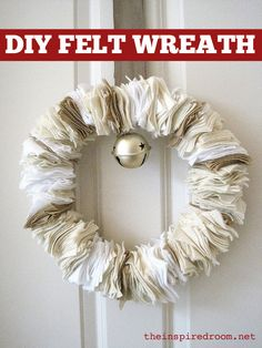 Simple felt wreath