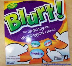 Crazy Speech World: Things I love: Blurt!  How I use this fun game for speech & language therapy.