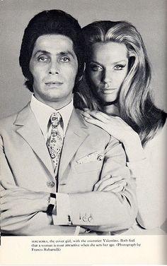 Veruschka and Valentino