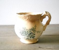 Antique Ironstone Shaving Mug Aesthetic by MomsantiquesNthings