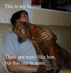 MY HUMAN!!! <3