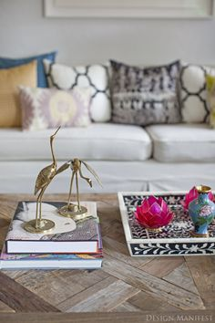 coffee table styling // design manifest