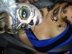 Dia de Los muertos! Sugar skull makeup!