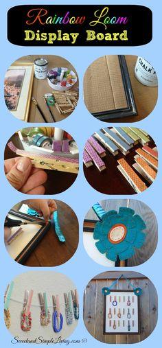 Rainbow Loom Bracelet Display Board or String display tutorial!  Super Simple and cute too!  #RainbowLoom #organize