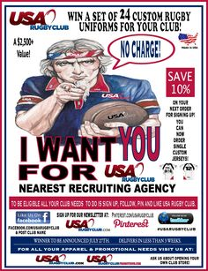 Win a free set of 24 of Custom Rugby Uniforms from USA Rugby Club