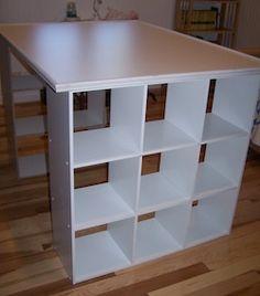 diy craft room table & storage