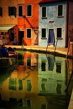 Burano in the Venice lagoon