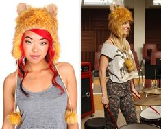 Hot Topic Lion Hat - No longer available  Worn with: Forever 21 sweater, Urban Outfitters jeans  Also worn in: 2x14 'Blame It On the Alcohol' with Edward Beiner sunglasses, Anthropologie sweater, H skirt, Aldo boots  4x12 'Naked' with Forever 21 sweater, Urban Outfitters jeans