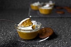 pumpkin and sour cream pudding by smitten, via Flickr