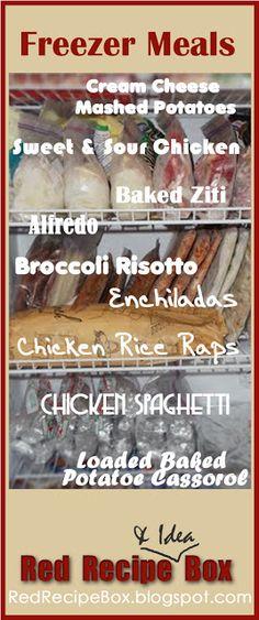 Red Recipe & Idea Box: Freezer Meals