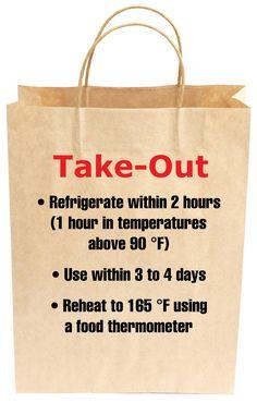 Safe handling of take-out foods. #Thanksgiving