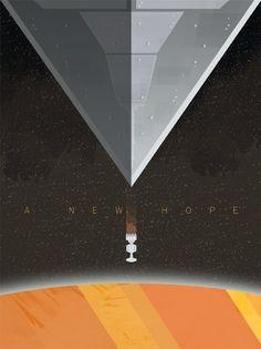 Minimalist Star Wars Posters IV-A New Hope