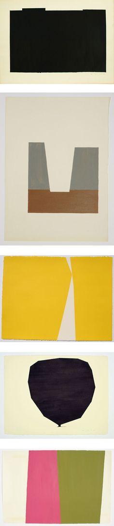 anne truitt - acrylics on paper