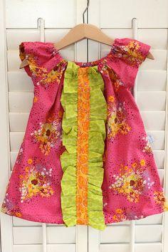-peasant dress w ruffle