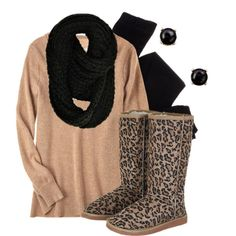 """""""Lounging in Leopard"""" by qtpiekelso on Polyvore"""